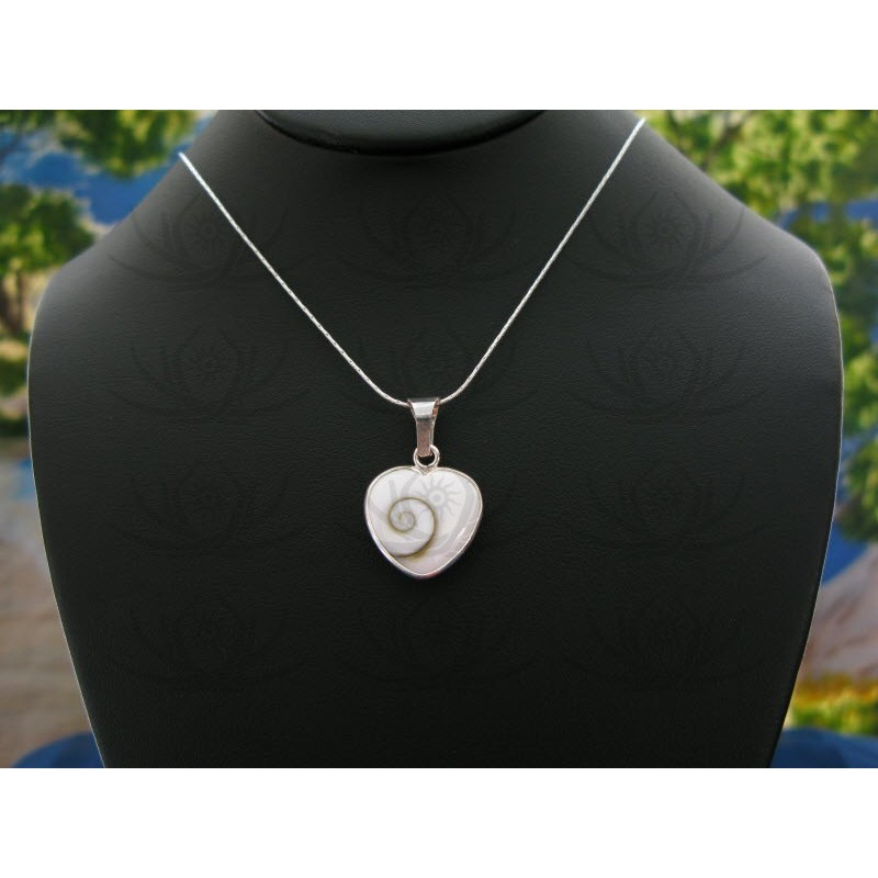 SP 0196 Pendant Shiva Eye Shell Silver