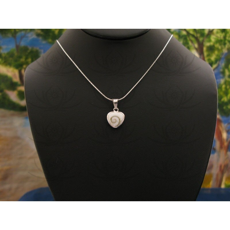SP 0198 Pendant Shiva Eye Shell Silver
