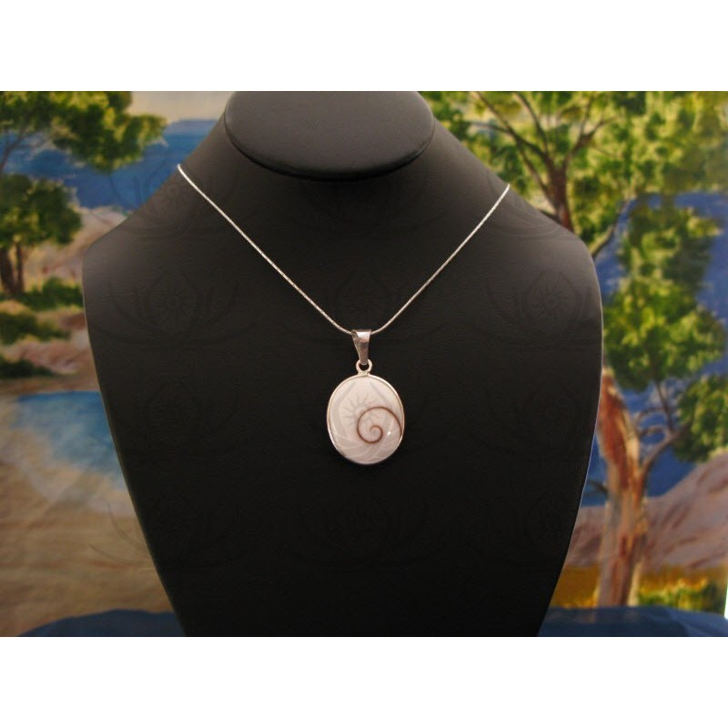 SP 0199 Pendant Shiva Eye Shell Silver