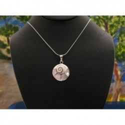 SP 0210 Pendant Shiva Eye Shell Silver