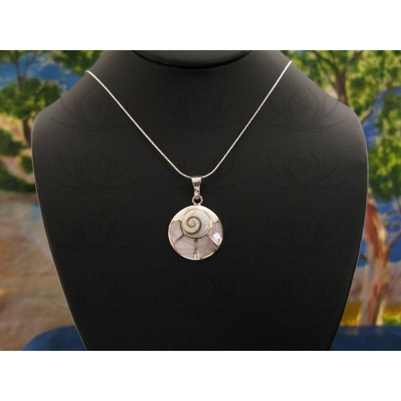 SP 0210 Pendant Shiva Eye Shell Silver