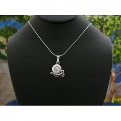 SP 0216 Pendant Shiva Eye Shell Silver