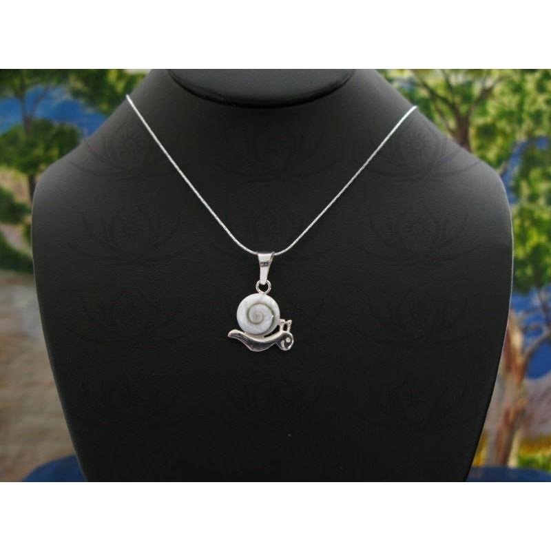 SP 0216 Pendant Shiva Eye Shell Silver