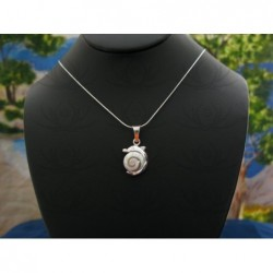 SP 0217 Pendant Shiva Eye Shell Silver