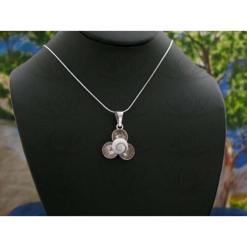 SP 0227 Pendant Shiva Eye Shell Silver