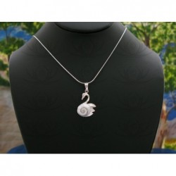 SP 0230 Pendant Shiva Eye Shell Silver