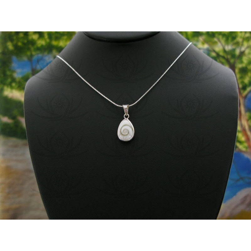 SP 0240 Pendant Shiva Eye Shell Silver