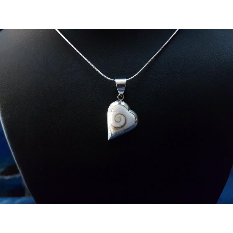 SP 0247 Pendant Shiva Eye Shell Silver