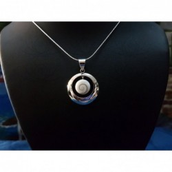SP 0250 Pendant Shiva Eye Shell Silver