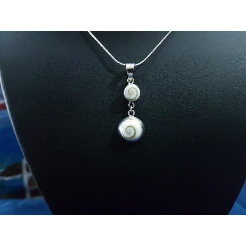 SP 0251 Pendant Shiva Eye Shell Silver