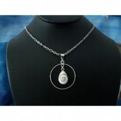 SP 0257d Pendant Shiva Eye Shell Silver