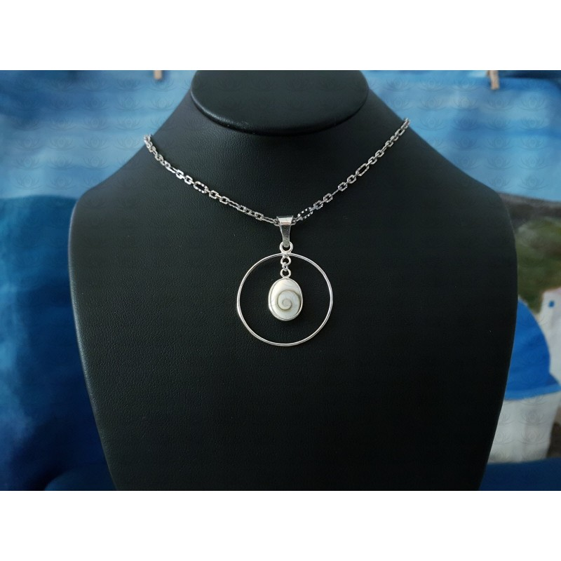 SP 0257o Pendant Shiva Eye Shell Silver