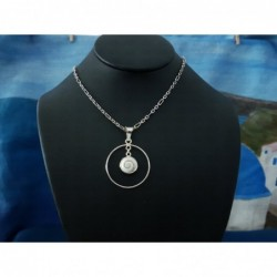 SP 0257r Pendant Shiva Eye Shell Silver