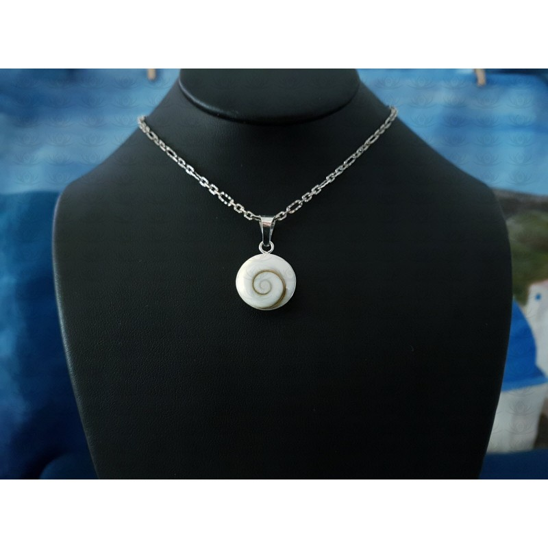 SP 0265 Pendant Shiva Eye Shell Silver