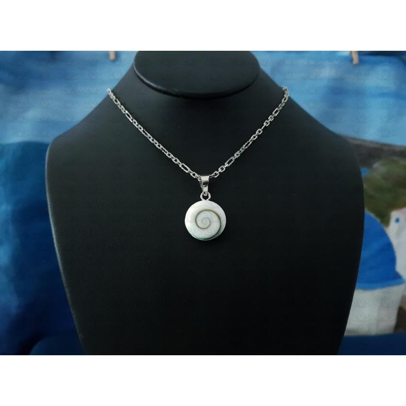 SP 0273 Pendant Shiva Eye Shell Silver