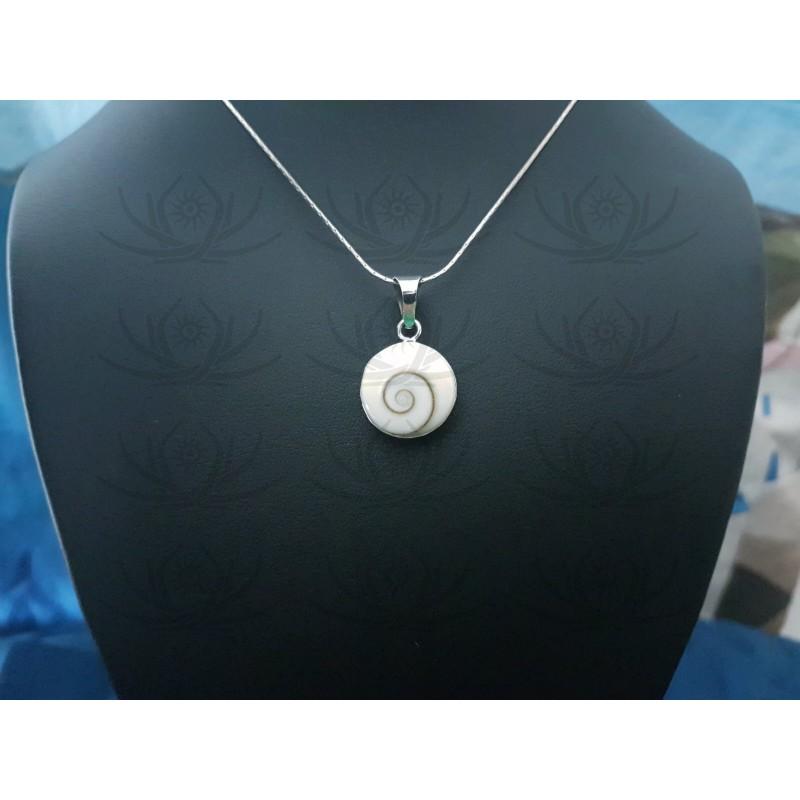 SP 0278 Pendant Shiva Eye Shell Silver