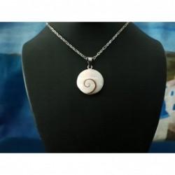 SP 0284 Pendant Shiva Eye Shell Silver
