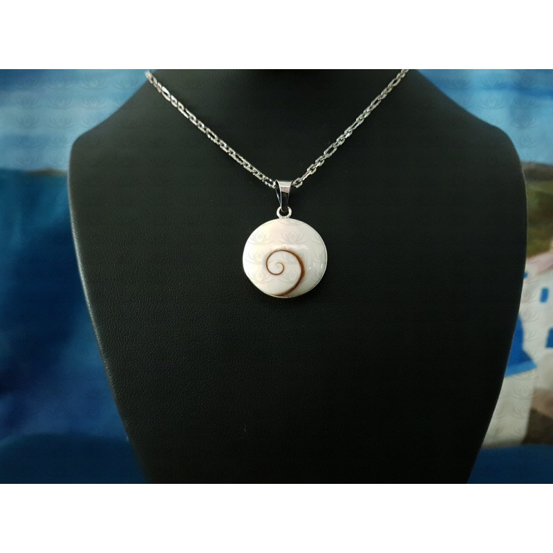 SP 0284 Pendant Shiva Eye Shell Silver