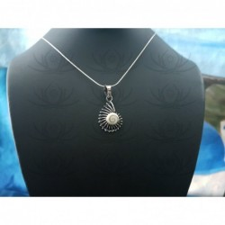 SP 0292 Pendant Shiva Eye Shell Silver