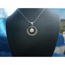 SP 0293 Pendant Shiva Eye Shell Silver
