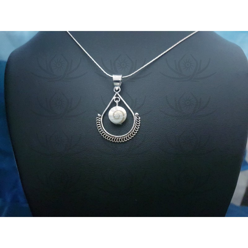 SP 0294 Pendant Shiva Eye Shell Silver