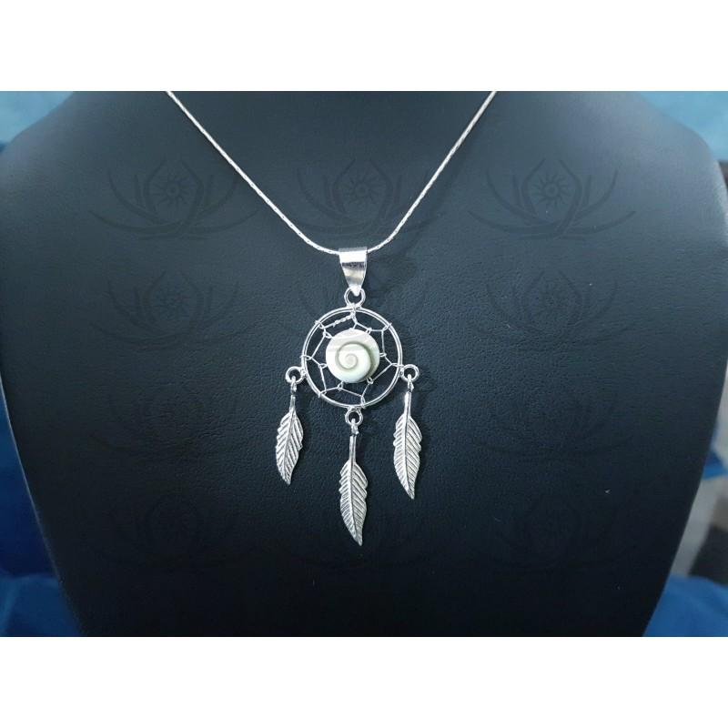 SP 0295 Pendant Shiva Eye Shell Silver