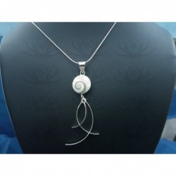 SP 0296 Pendant Shiva Eye Shell Silver