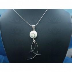 SP 0296 Pendant Shiva Eye Shell Silver