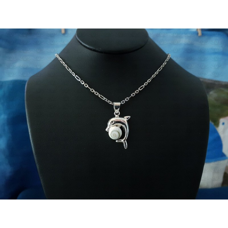 SP 0298 Pendant Shiva Eye Shell Silver