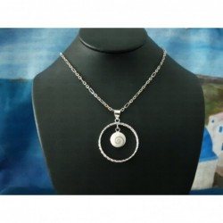 SP 0299 Pendant Shiva Eye Shell Silver