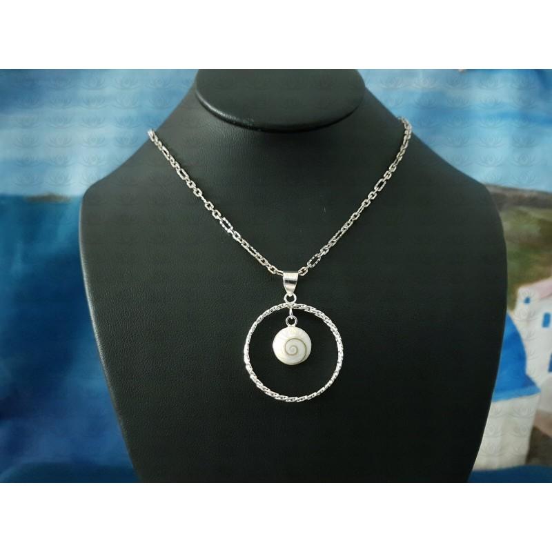 SP 0299 Pendant Shiva Eye Shell Silver