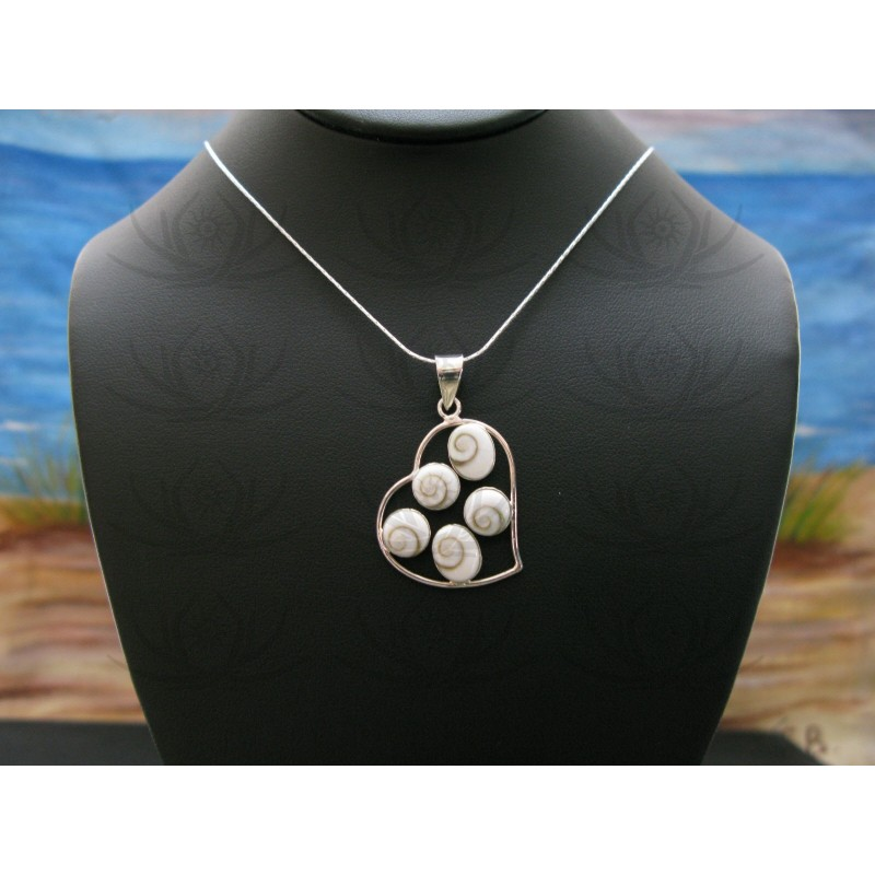 SP 0301 Pendant Shiva Eye Shell Silver