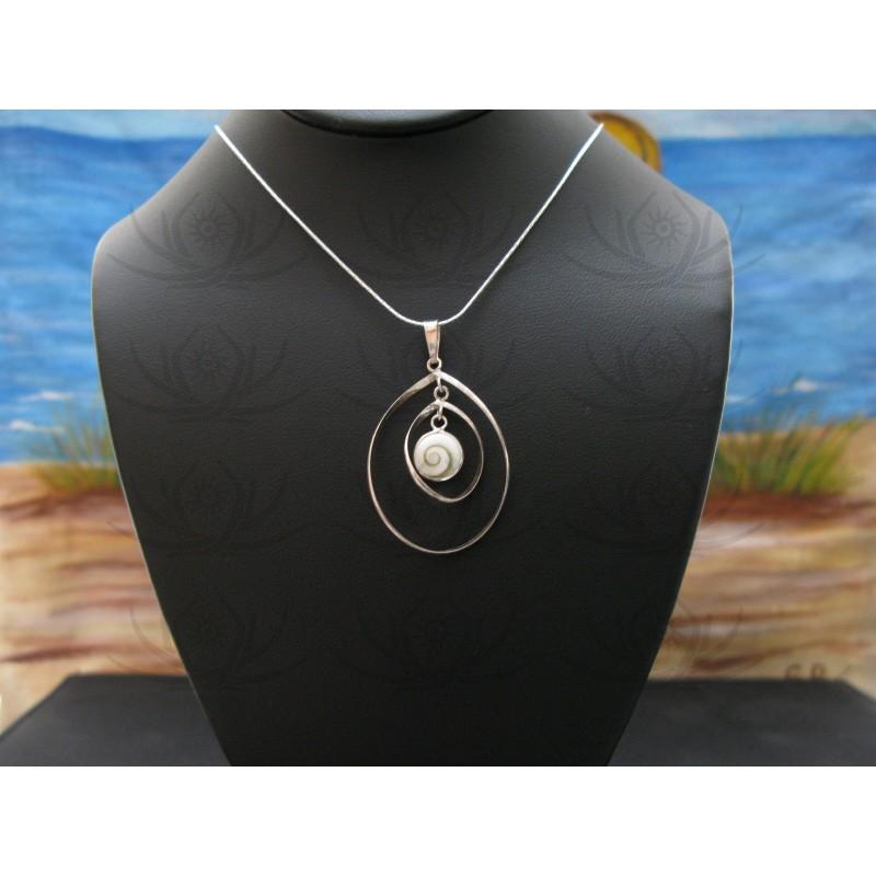 SP 0310 Pendant Shiva Eye Shell Silver