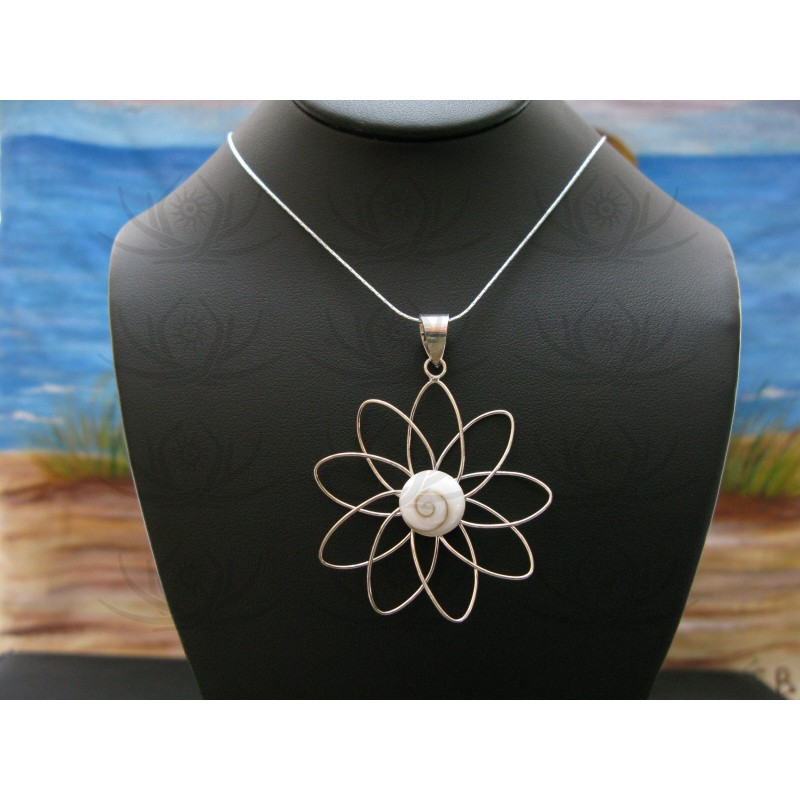 SP 0311 Pendant Shiva Eye Shell Silver