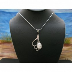 SP 0320 Pendant Shiva Eye Shell Silver