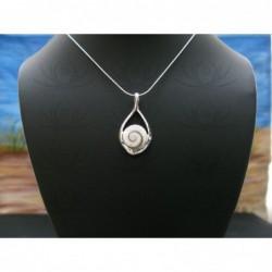 SP 0324 Pendant Shiva Eye Shell Silver