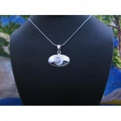 SP 0328 Pendant Shiva Eye Shell Silver