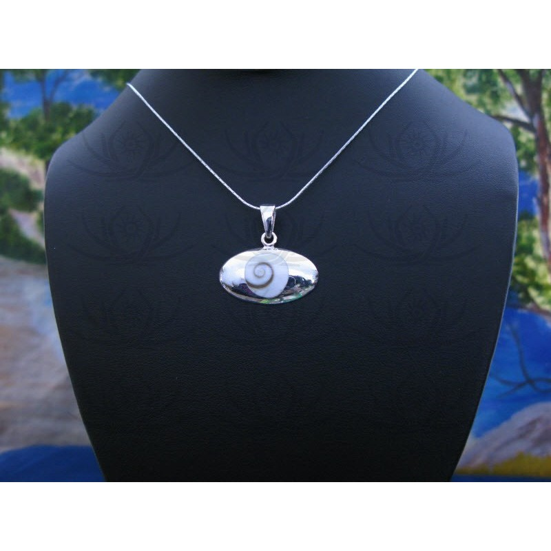 SP 0328 Pendant Shiva Eye Shell Silver
