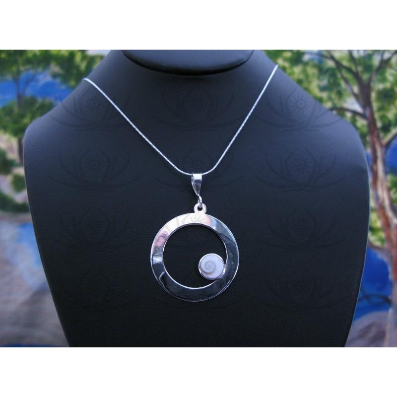 SP 0332 Pendant Shiva Eye Shell Silver