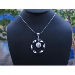 SP 0340 Pendant Shiva Eye Shell Silver