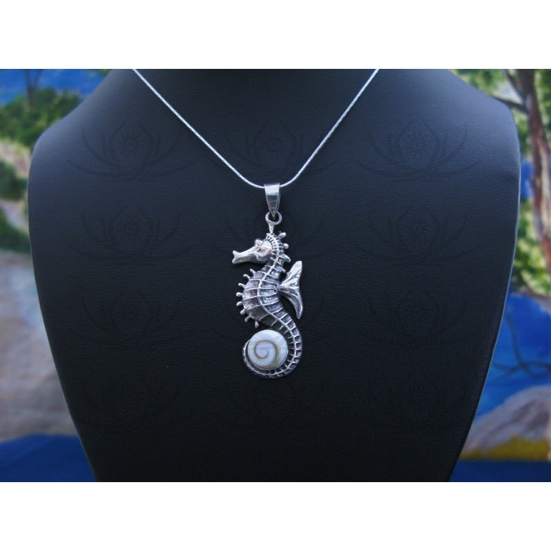 SP 0341 Pendant Shiva Eye Shell Silver
