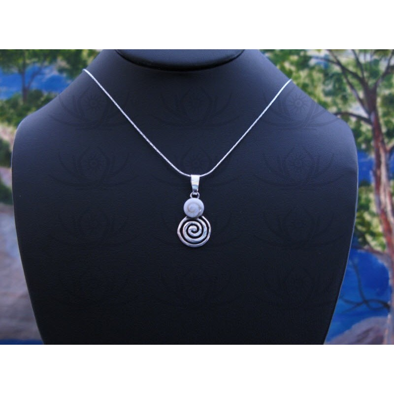 SP 0343 Pendant Shiva Eye Shell Silver