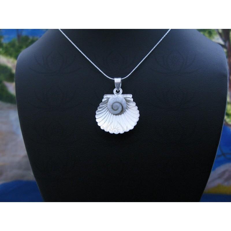 SP 0344 Pendant Shiva Eye Shell Silver