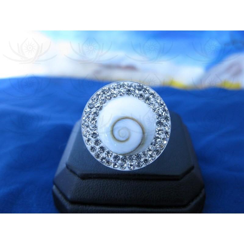 SR 0012 Ring Shiva Eye Shell Silver