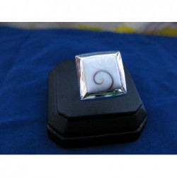 SR 0031 Ring Shiva Eye Shell Silver