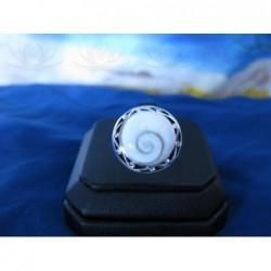 SR 0100 Ring Shiva Eye Shell Silver