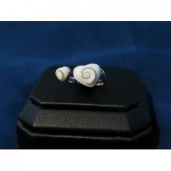 SR 0117 Ring Shiva Eye Shell Silver