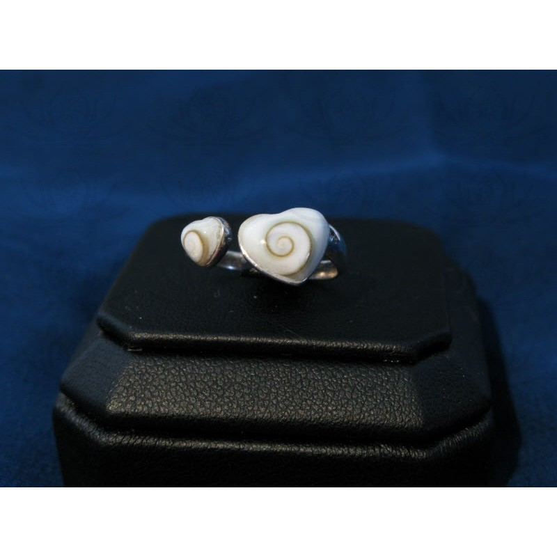 SR 0117 Ring Shiva Eye Shell Silver