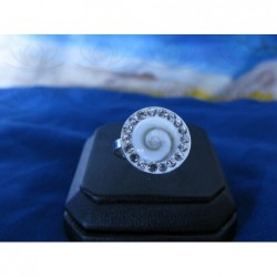 SR 0118 Ring Shiva Eye Shell Silver