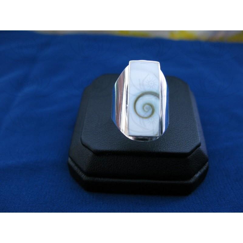 SR 0119 Ring Shiva Eye Shell Silver